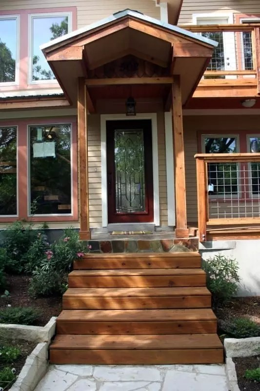 Stained Wood Exterior Trim