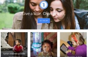 One Today la app de recaudación de fondos de Google