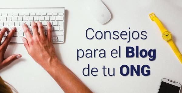 Consejos para escribir en el Blog de tu ONG
