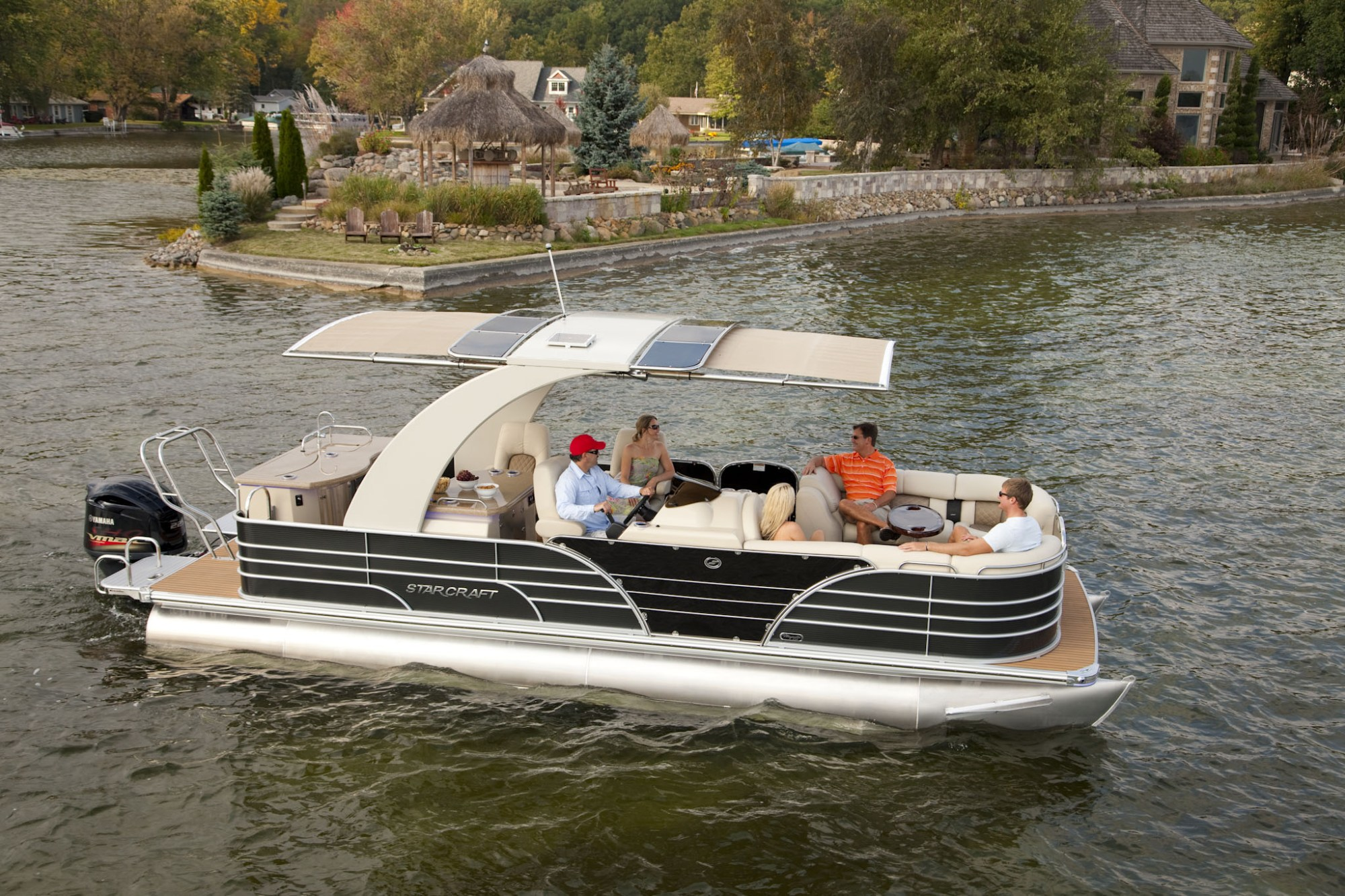 hight resolution of pontoon boats