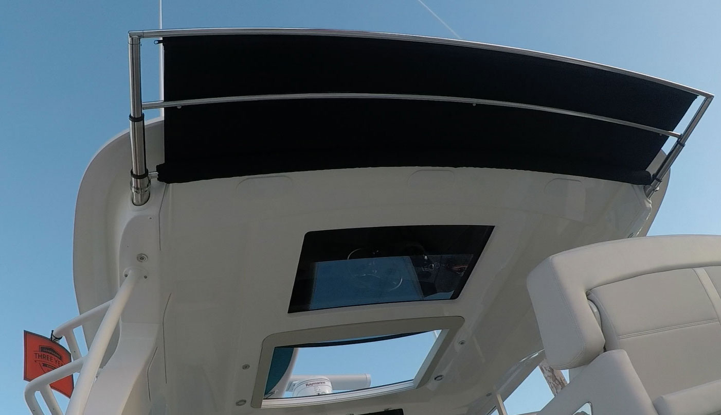 hight resolution of atf sg silent glide boat shade is sureshade s next generation automated retractable sunshade system with silent glide technology available to oems for