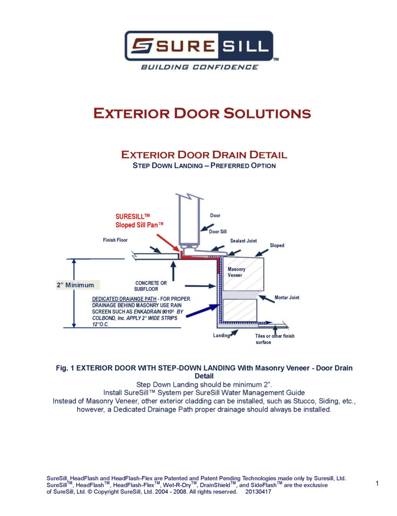 medium resolution of exterior door drain detail suresill protect your investments bath drain diagram exterior door drain detail