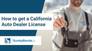 How to get a California Auto Dealer License