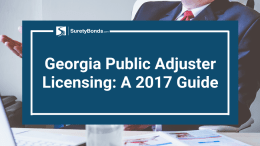 A 2017 Georgia public adjuster licensing guide