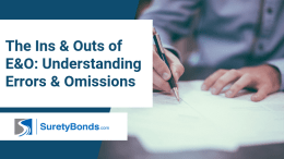 Find out the ins & outs of errors and omissions