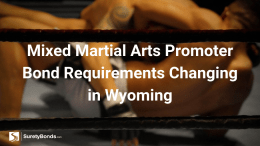 Mixed Martial Arts Promoter Bond Requirements Changing in Wyoming
