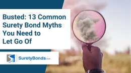 13 common myths about the surety bond process