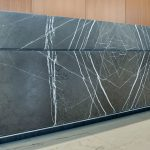 Marble Wrapped Corporate Reception Desk Surface One