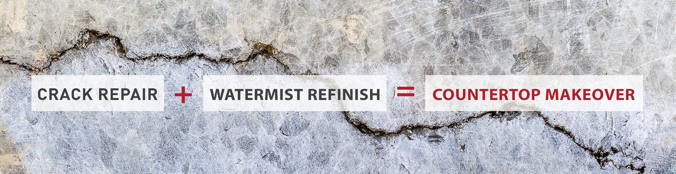 Surface Link Coutnertop Crack Repair Watermist Refinish Coutnertop Makeover