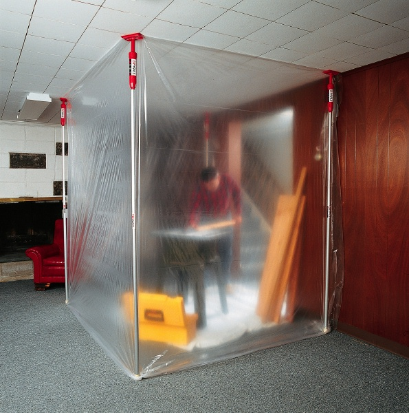 Dust Control products including tacky mats poly sheets