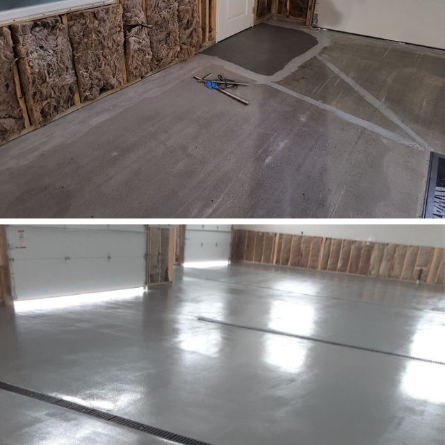 ucrete dp flooring installation at