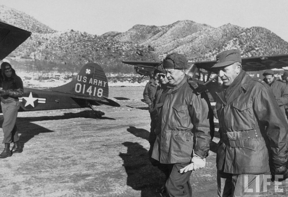 Image result for photo of dwight eisenhower in korea