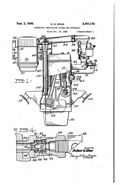 Crankcase Ventilating System Apparatus Patent Drawings