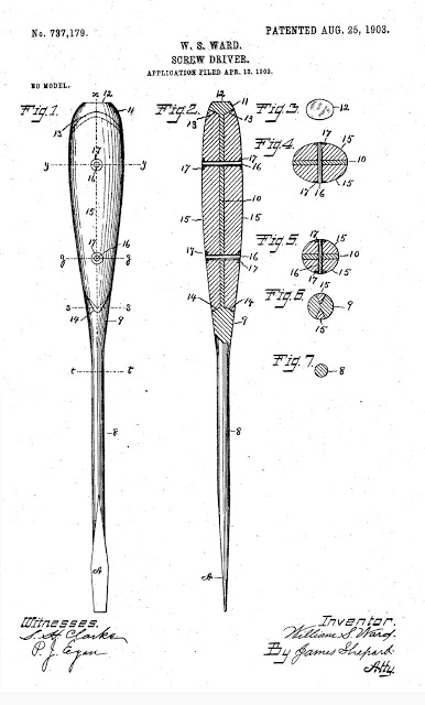 Factory Drawing of the Screwdriver used in jeep tool kits