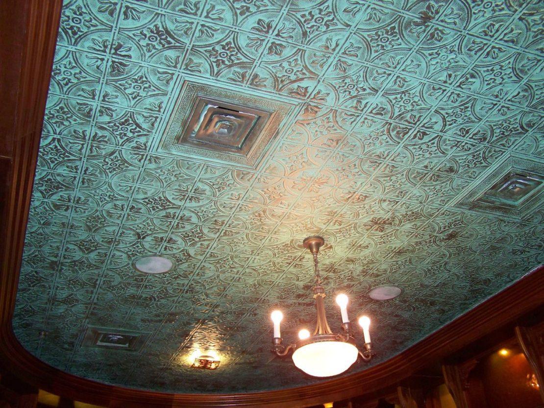Faux Tin Patina Decorative Ceiling Tile