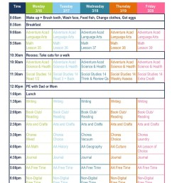 4th Grade Daily Homeschool Schedule Template Free Download – Surf and  Sunshine [ 1165 x 900 Pixel ]