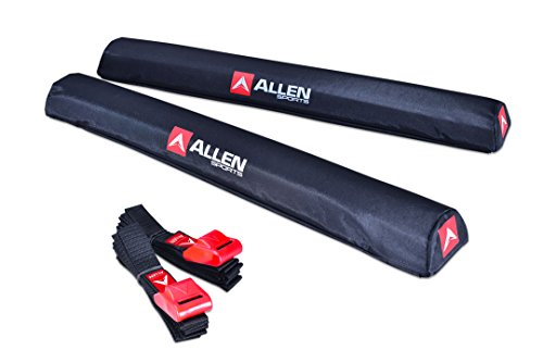 Allen Sports 24 inch Aero Roof Rack Pads with 8 ft Straps