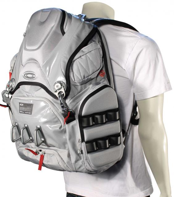 Oakley Big Kitchen Backpack  Stone Grey For Sale at