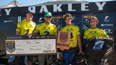2014 West Regional Champions: Val Surf- Thousand Oaks. (L-R: Andrew Jacobson, Pascal Stansfield, Chance Lawson, Skylar Lawson.) Photo: Lowe-White
