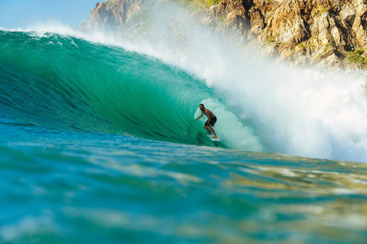 Jordy Smith, tucking his large frame inside a hypnotizing righthander somewhere in Mainland Mexico.