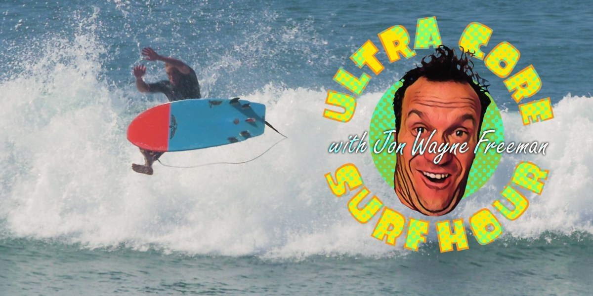 Jon Wayne Freeman Takes His Quest for Old Guy Airs to Lower Trestles