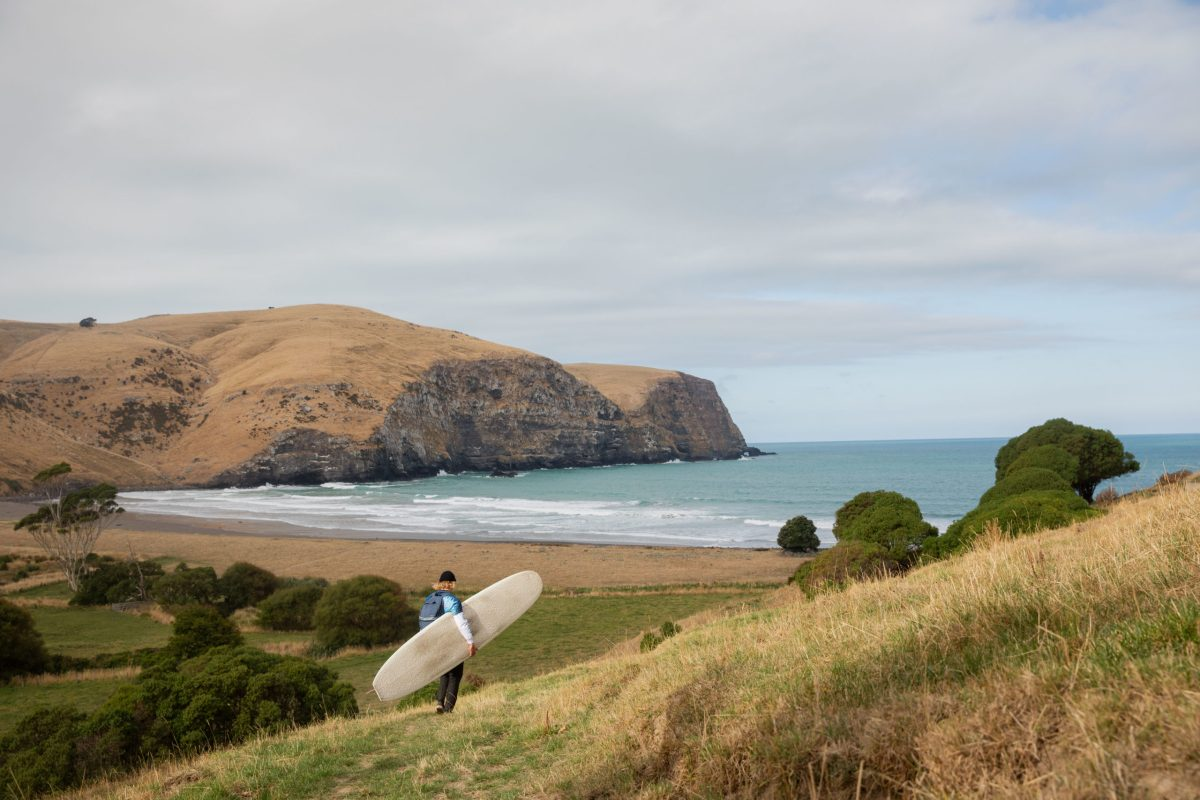 """When the waves slowed down in the zone where we were staying, we made a couple quick day trips to nearby breaks,"" says BenBen. ""It seems like everywhere you go in New Zealand you're left in awe of your surroundings."""