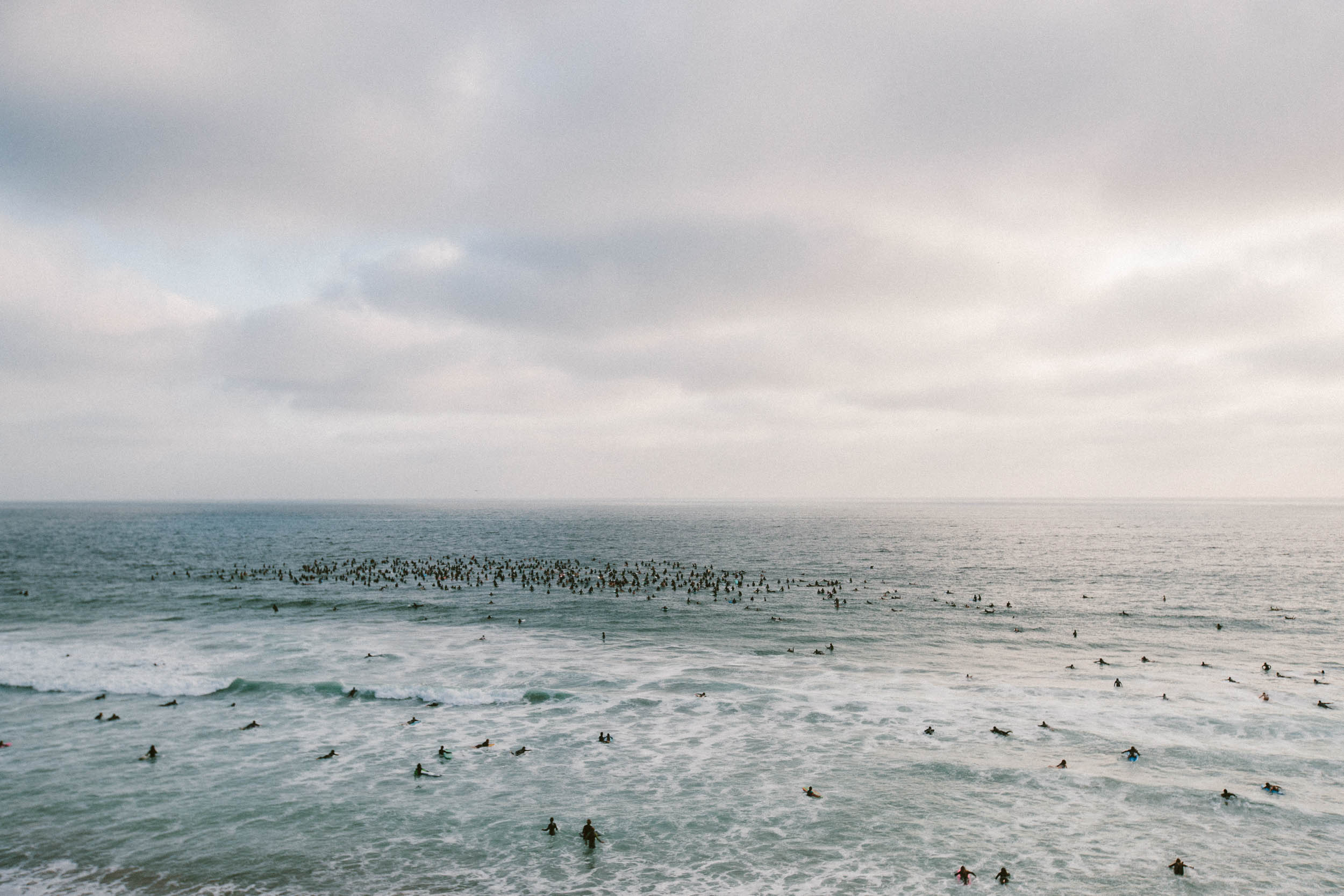 One of the largest paddle-out ceremonies Encinitas has ever seen.