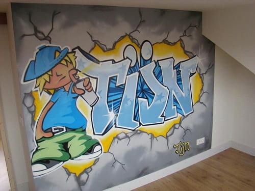 Naam in graffiti  Surfing4art