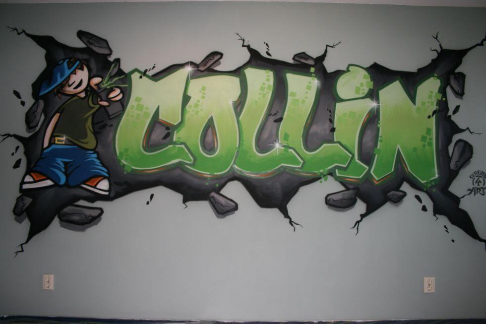 Graffiti Kinderkamer  Surfing4art
