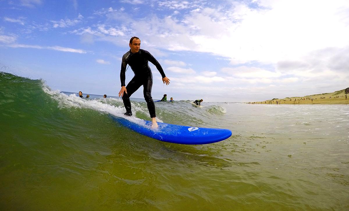 Toussaint cours de surf