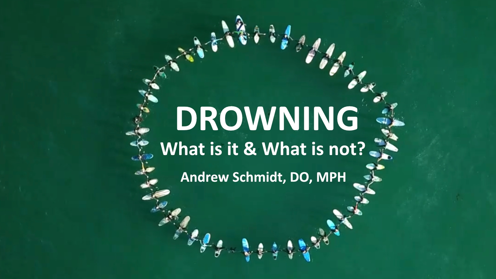 Drowning: What is it and what is it not?