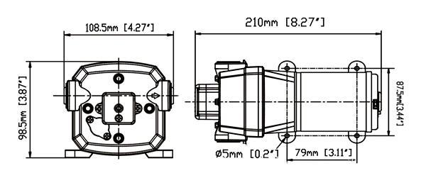 SURFLO KDP-35D Automatic Diaphragm Pump 220-240V AC 12