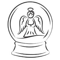 Angel Snow Globe » Coloring Pages » Surfnetkids