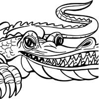 Crocodile, Alligator » Coloring Pages » Surfnetkids