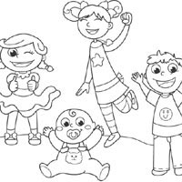 Brothers And Sisters » Coloring Pages » Surfnetkids