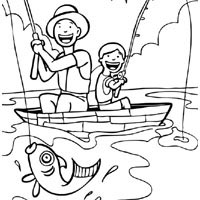 Fishing Together » Coloring Pages » Surfnetkids