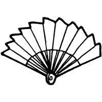 Folding Fan » Coloring Pages » Surfnetkids