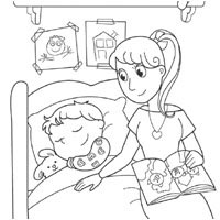 Nighty Night » Coloring Pages » Surfnetkids