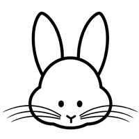 Rabbit Face » Coloring Pages » Surfnetkids
