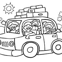 Road Trip » Coloring Pages » Surfnetkids