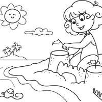 Sand Castle » Coloring Pages » Surfnetkids