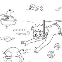 Snorkeling Fun » Coloring Pages » Surfnetkids