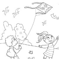 Kite » Coloring Pages » Surfnetkids