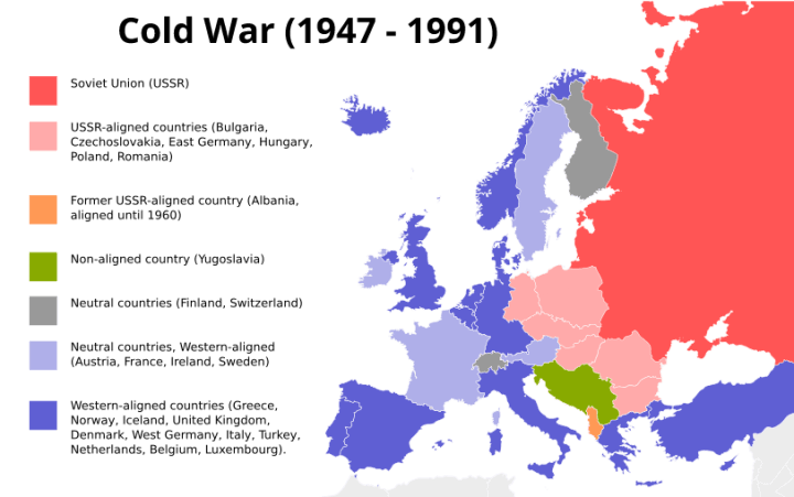 Cold Europe War Map Political