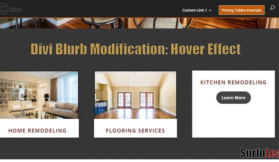 Divi Theme Blurb Modification – Creating a Hover Effect