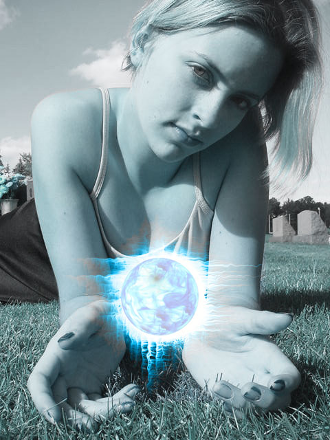 Make a Blue Flaming Ball Effect in Your Photos Using Photoshop
