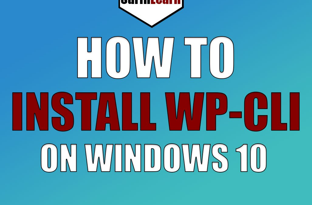 Installing WP-CLI on Windows 10