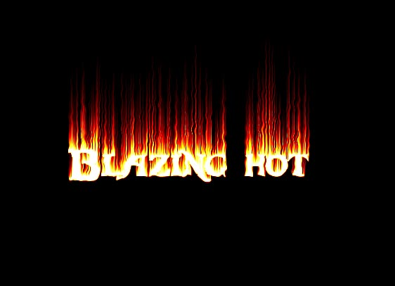 Creating a Blazing Hot Text Effect