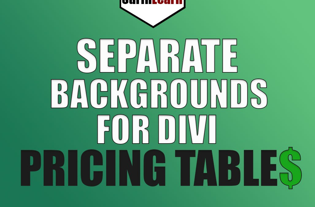 Separate Backgrounds for Divi Pricing Tables