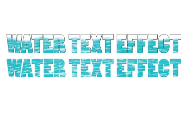 Creating a Text Effect Using Water with Photoshop
